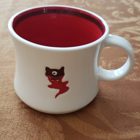 2006 Starbucks Coffee Mug Cup Boo Ghost Cat
